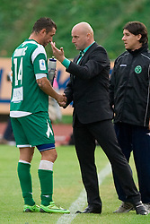 Sebastjan Cimirotic of Olimpija with coach Robert Pevnik  at 13th Round of Prva Liga football match between NK Olimpija and Maribor, on October 17, 2009, in ZAK Stadium, Ljubljana. Maribor won 1:0. (Photo by Vid Ponikvar / Sportida)