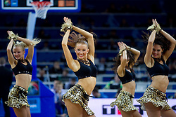 Cheerleaders Zalgiris Dancers during basketball game between National basketball teams of F.Y.R. of Macedonia and Russia of 3rd place game of FIBA Europe Eurobasket Lithuania 2011, on September 18, 2011, in Arena Zalgirio, Kaunas, Lithuania. Russia defeated Macedonia 72-68 and won bronze medal. (Photo by Vid Ponikvar / Sportida)