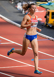 05-08-2017 IAAF World Championships Athletics day 2, London<br /> Nadine Visser NED (zevenkamp) wint de 100 meter horden.