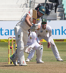 Durban. 010318. Shaun Marsh of Australia strikes the ball  during the first Sunfoil Test Match againts South Africa in Durban. Picture Leon Lestrade/African News Agency/ANA