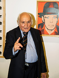 Pictured: 86 year old Richard Demarco has lost none of his enthusiasm of all works for art. He was still seeing new aspects of Beuy's work as the toured the exhibition. <br /> <br /> The Richard Demarco &amp; Joseph Beuys A Unique Partnership exhibition examines the collaboration between the avant-garde gallerist and German post-war artist. The exhibition is open to the public between  30 July and 1 October 2016<br /> <br /> Ger Harley | EEm 28 July 2016