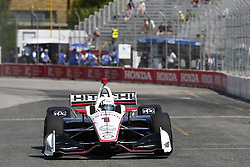 July 13, 2018 - Toronto, Ontario, Canada - JOSEF NEWGARDEN (1) of the United States takes to the track to practice for the Honda Indy Toronto at Streets of Exhibition Place in Toronto, Ontario. (Credit Image: © Justin R. Noe Asp Inc/ASP via ZUMA Wire)