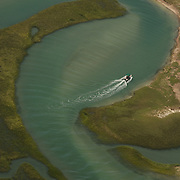 Aerial images of the islands and marshes of the Cape Fear region of North Carolina, near Wilmington and Wrightsville Beach.