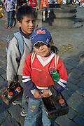 Shoeshine kids, Plaza Grande, Quito, Ecuador