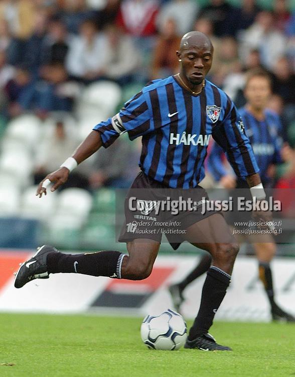 Marcel Mahouve/Inter.&amp;#xA;Veikkausliiga 2004.&amp;#xA;Photo: Jussi Eskola<br />