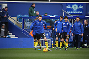 Birmingham City defender, Jonathan Grounds (3) warming up during the Sky Bet Championship match between Queens Park Rangers and Birmingham City at the Loftus Road Stadium, London, England on 27 February 2016. Photo by Matthew Redman.