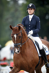 Talberg Julia, (FIN), Highland Park<br /> First Qualifier 6 years old horses<br /> World Championship Young Dressage Horses - Verden 2015<br /> © Hippo Foto - Dirk Caremans<br /> 07/08/15