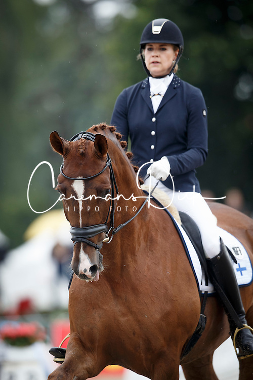 Talberg Julia, (FIN), Highland Park<br /> First Qualifier 6 years old horses<br /> World Championship Young Dressage Horses - Verden 2015<br /> © Hippo Foto - Dirk Caremans<br /> 07/08/15