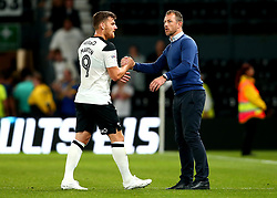 Derby County manager Gary Rowett shakes the hand of Chris Martin of Derby County - Mandatory by-line: Robbie Stephenson/JMP - 15/08/2017 - FOOTBALL - Pride Park Stadium - Derby, England - Derby County v Preston North End - Sky Bet Championship