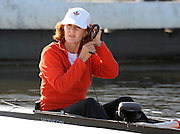 Poznan, POLAND, CAN W8+ cox Lesley THOMPSON, prepares for the Friday mornings training session coxing the Canadian Women's eight, in preparation for the 2009 FISA World Rowing Championships. held on the Malta Rowing lake, Friday  21/08/2009 [Mandatory Credit. Peter Spurrier/Intersport Images]