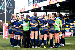 Worcester Warriors Women huddle - Mandatory by-line: Robbie Stephenson/JMP - 01/12/2019 - RUGBY - Sixways Stadium - Worcester, England - Worcester Warriors Women v Bristol Bears Women - Tyrrells Premier 15s
