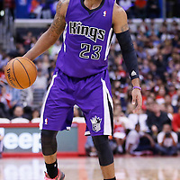 25 October 2013: Sacramento Kings shooting guard Marcus Thornton (23) looks to pass the ball during the Sacramento Kings 110-100 victory over the Los Angeles Clippers at the Staples Center, Los Angeles, California, USA.