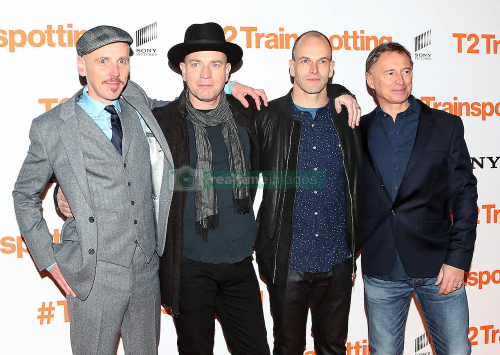 (Left to right) Ewen Bremner, Ewan McGregor, Jonny Lee Miller and Robert Carlyle at the world premiere of Trainspotting 2 at Cineworld in Edinburgh.