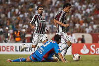 20120207: RIO DE JANEIRO, BRAZIL - Player Fred and Deco (FLU) and Guillermo Enio Burdisso (ARS) at football match between Fluminense (BRA) vs  Arsenal de Sarandi (ARG) for Copa Libertadores, held at Engenhao stadium in RJ<br />