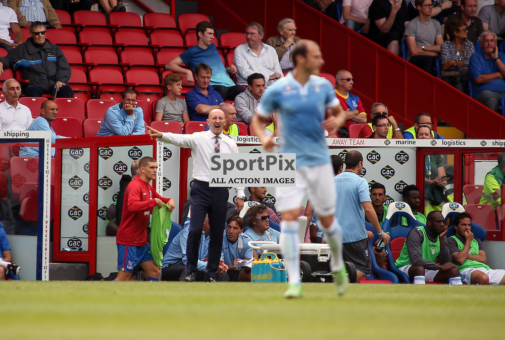 Ian Hollaway (Crystal Palace manager) barking orders - Crystal Palace v Lazio - pre season friendly - 10 August 2013 played at Selhurst Park Stadium, London (c) Liam McAvoy | SportPix