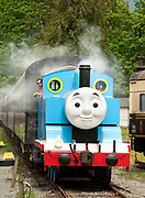 Thomas the Tank Engine makes an appearance at the West Coast Railway Museum.  Sunday, May 21, 2017.  Photo by David Buzzard/For The Squamish Chief.