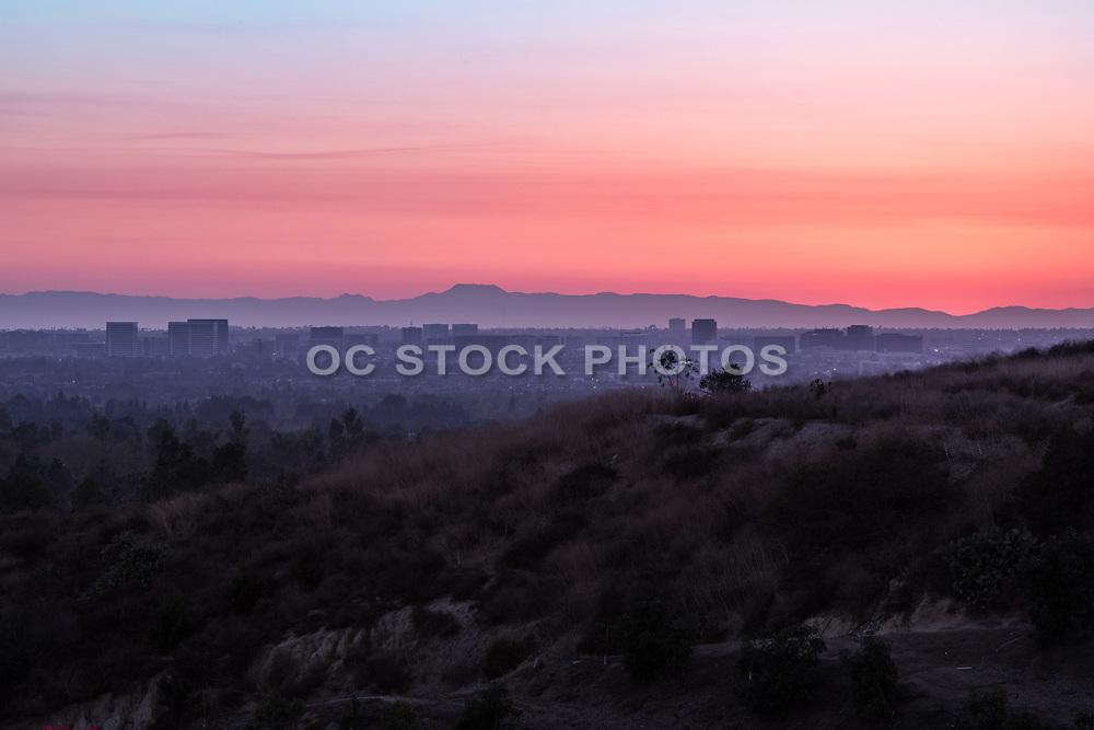 Irvine Skyline At Sundown