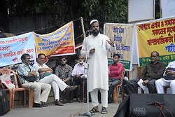 June 14, 2017 - Kolkata, West Bengal, India - Group of social activist protested against Union Government notification to restrict cattle trade and attack on Dalit or lower class people in several parts of state. (Credit Image: © Saikat Paul/Pacific Press via ZUMA Wire)