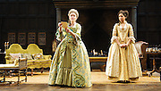 She Stoops to Conquer<br /> by Oliver Goldsmith <br /> directed by James Lloyd<br /> at the Olivier Theatre, Southbank, London, Great Britain <br /> 30th January 2012<br /> <br /> <br /> Cush Jumbo (as Constance Neville)<br /> Sophie Thompson (as Mrs Hardcastle)<br /> <br /> <br /> <br /> Photograph by Elliott Franks