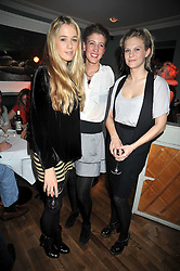 Left to right, FLORENCE BRUDENELL-BRUCE, EMILY ROSE-GIBBS and LADY PHILIPPA HOWARD daughter of the Earl of Suffolk at the opening of the Brompton Bar & Grill, 243 Brompton Road, London SW3 on 11th March 2009.