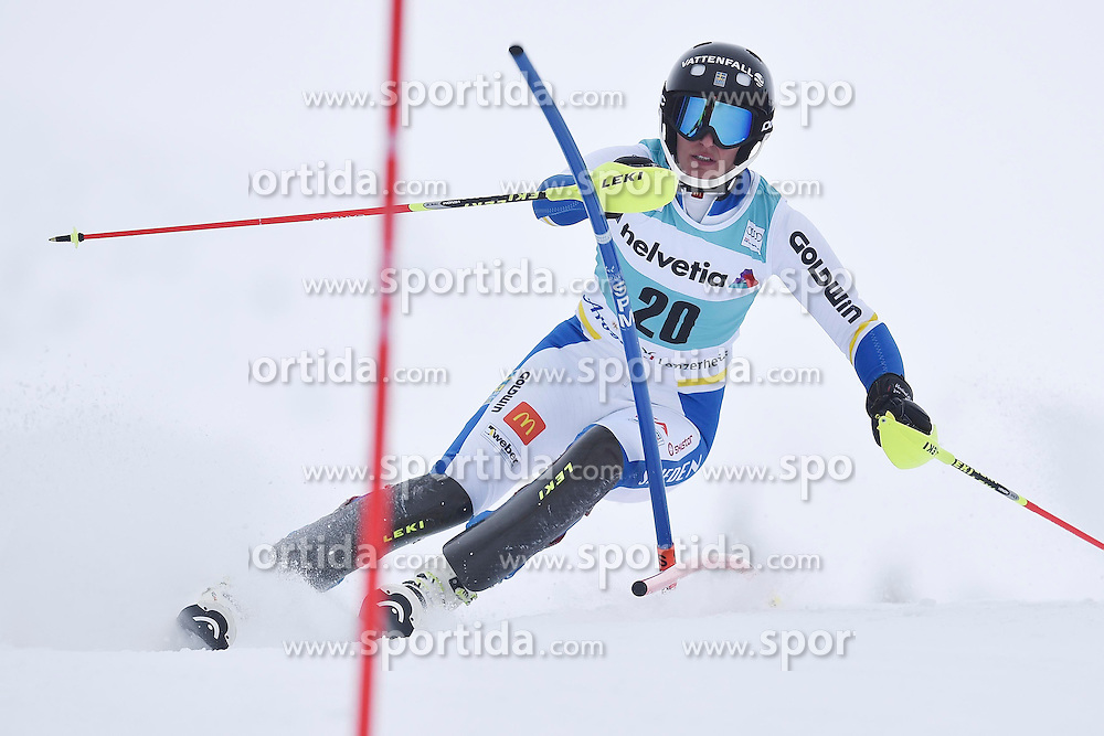 13.03.2016, Pista Silvano Beltrametti, Lenzerheide, SUI, FIS Weltcup Ski Alpin, Lenzerheide, Superkombination, Slalom, Damen, im Bild Kajsa Kling (SWE) // during ladie's Supercombi, Slalom Race of Lenzerheide FIS Ski Alpine World Cup at the Pista Silvano Beltrametti in Lenzerheide, Switzerland on 2016/03/13. EXPA Pictures &copy; 2016, PhotoCredit: EXPA/ Freshfocus/ Manuel Lopez<br /> <br /> *****ATTENTION - for AUT, SLO, CRO, SRB, BIH, MAZ only*****