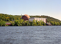 Connecticut Yankee nuclear power plant (now dismantled) along the Connecticut River at East Haddam, CT