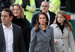 © Licensed to London News Pictures. 05/12/2016. London, UK. Campaigner Gina Miller (C) arrives at the Supreme Court  in Westminster, London for first day of a Supreme Court hearing to appeal against a November 3 High Court ruling that Article 50 cannot be triggered without a vote in Parliament. Photo credit: Peter Macdiarmid/LNP
