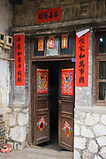 Traditional doorway in Fuli, Xingping, China