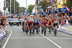 Finish of the peloton with KRISTOFF Alexander from NORWAY crossing first during Men Elite Road Race 2019 UEC European Road Championships, Alkmaar, The Netherlands, 11 August 2019. <br /> <br /> Photo by Thomas van Bracht / PelotonPhotos.com <br /> <br /> All photos usage must carry mandatory copyright credit (Peloton Photos | Thomas van Bracht)