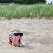 On the beach in Ocean Park, Maine