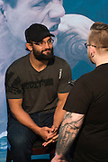 DALLAS, TX - MARCH 12:  Johny Hendricks speaks with the media during the UFC 185 Ultimate Media Day at the American Airlines Center on March 12, 2015 in Dallas, Texas. (Photo by Cooper Neill/Zuffa LLC/Zuffa LLC via Getty Images) *** Local Caption *** Johny Hendricks