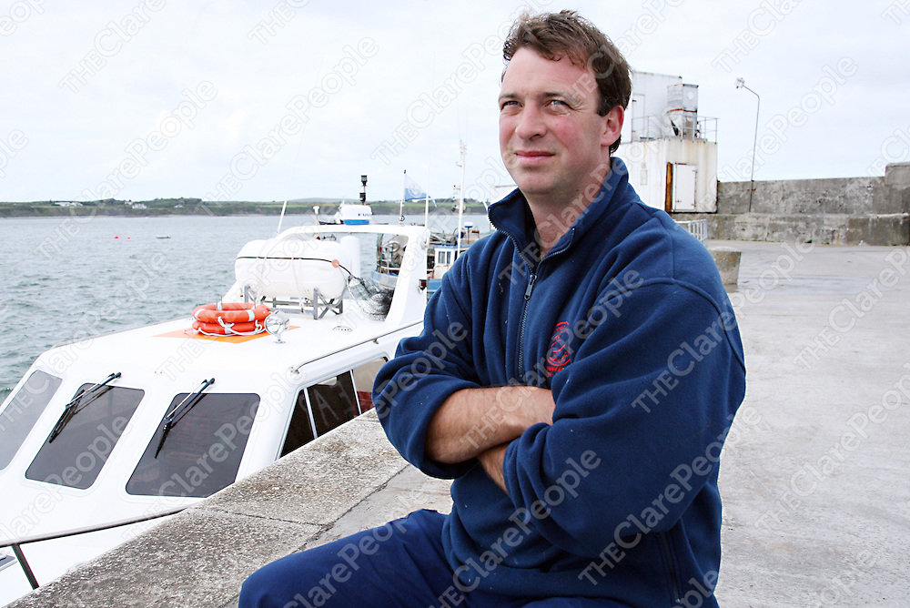 Skipper and co-owner of the Carrigaholt Sea Angling Centre Luke Aston.<br />