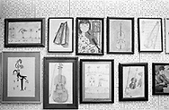 Drawings made by the children of the violin class. To honour their teacher and show their appreciation, they make drawings with a violin in it. Tehran, Iran, 2007