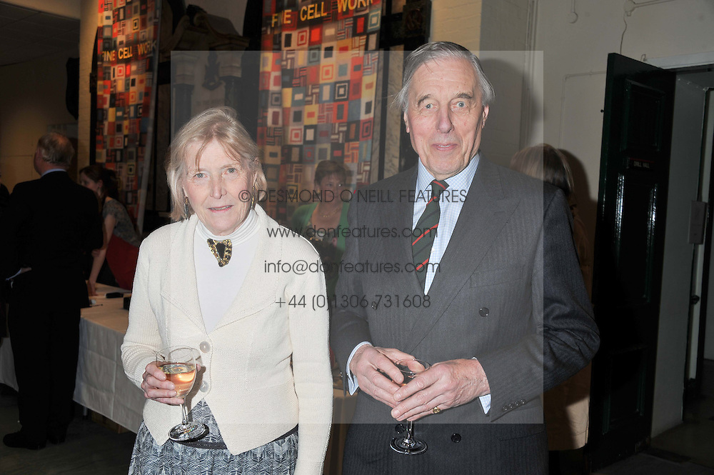 LORD & LADY RAMSBOTHAM at a reception to view and buy cushions, quilts, bags and gifts Hand-stitched in British prisons held at The Riffles Club, 56 Davies Street, London W1 on 26th April 2012.