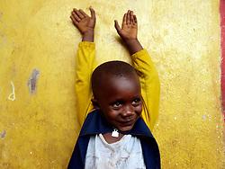 Alikali, grandson of Elizabeth. Kroo Bay slum, freetown, sierra leone.