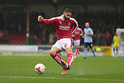 Swindon Town defender Jordan Turnbull during the Sky Bet League 1 match between Swindon Town and Coventry City at the County Ground, Swindon, England on 24 October 2015. Photo by Jemma Phillips.