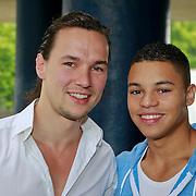 NLD/Amsterdam/20110806 - Canalpride Gaypride 2011, Jeffry Wammes en partner Rutger de Vreugd