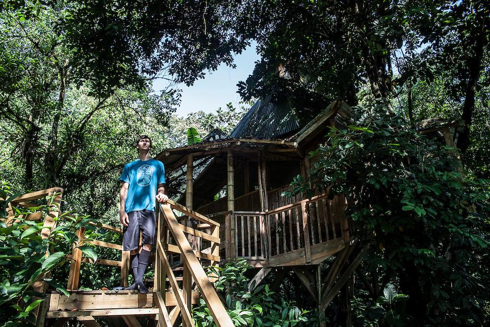 "J.J, 32 years old, from Philadelphia, lives at ""La Torreluna"" treehouse"