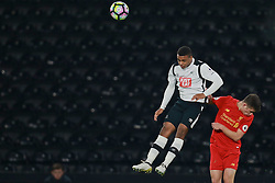 DERBY, ENGLAND - Monday, November 28, 2016: Derby County's Byron Stabana in action against Liverpool during the FA Premier League 2 Under-23 match at Pride Park. (Pic by David Rawcliffe/Propaganda)
