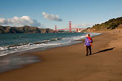 Baker Beach, Golden Gate Bridge, San Francisco, California, USA.  Photo copyright Lee Foster.  Photo # california108663