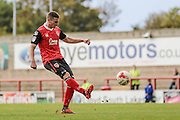 Morecambe Striker Paul Mullin during the EFL Sky Bet League 2 match between Morecambe and Carlisle United at the Globe Arena, Morecambe, England on 8 October 2016. Photo by Pete Burns.