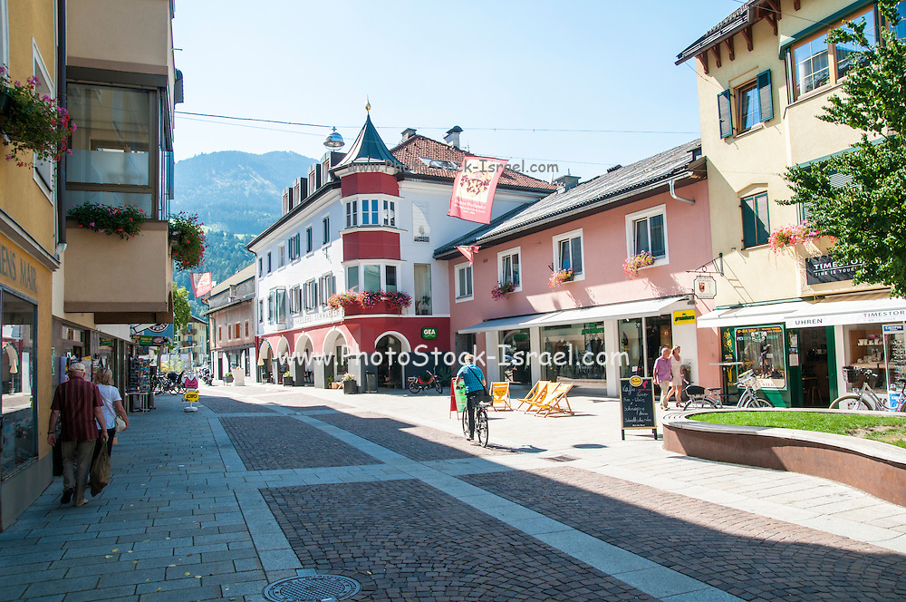 Lienz, Tyrol, Austria. the main pedestrian and shopping street