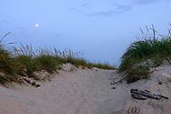 Moonlight, Path to Beach, Cooper's Beach, Southampton Village, Long Island, NY