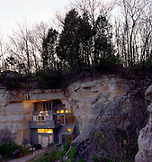 Festus, Missouri: Exterior view of Curtis Sleeper's home inside a cave. (Photo: Ann Summa).