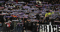 Toulouse fans pay homage to Brice Taton who was killed by hooligans whilst attending the Europa Cup match in Belgrade. Toulouse v Shakatar Donestk, Uefa Europa League, Stade Municipal, Toulouse, France, 5th November 2009.