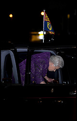 HM THE Queen arrives at the Queen's Medal for Music Gala Concert at the Barbican Hall, London, Wednesday December 5, 2012. Photo by Andrew Parsons / i-Images
