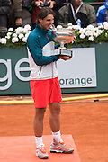 Paris, France. Roland Garros. June 9th 2013.<br /> Men's final. <br /> Spanish player Rafael NADAL wins Roland Garros for the 8th time, against David FERRER