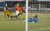 Photo: Steve Bond/Richard Lane Photography.<br /> Ivory Coast v Benin. Africa Cup of Nations. 25/01/2008. Abdul Kadir Keita (C) shot enters the net for goal no3. Keeper Rachad Chitou can only watch the ball enter the net
