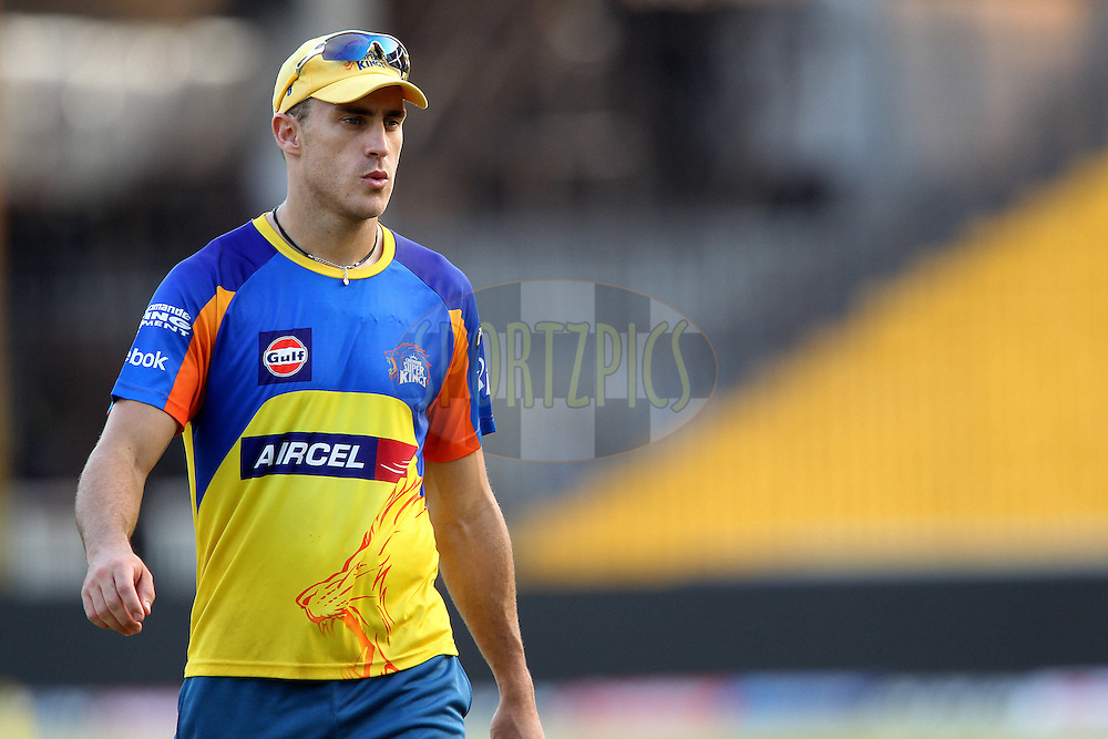 Faf (Francois) du Plessis during the Chennai Superkings practice session held at the MA Chidambaram Stadium in Chennai, Tamil Nadu, India on the 15th April 2011..Photo by Ron Gaunt/BCCI/SPORTZPICS