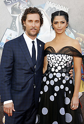 Matthew McConaughey and Camila Alves at the Los Angeles premiere of 'Sing' held at the Microsoft Theater in Los Angeles, USA on December 3, 2016.